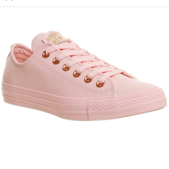 c29ccc18a882 Converse Shoes - Converse Low Leather Vapour Pink Rose Gold Snake